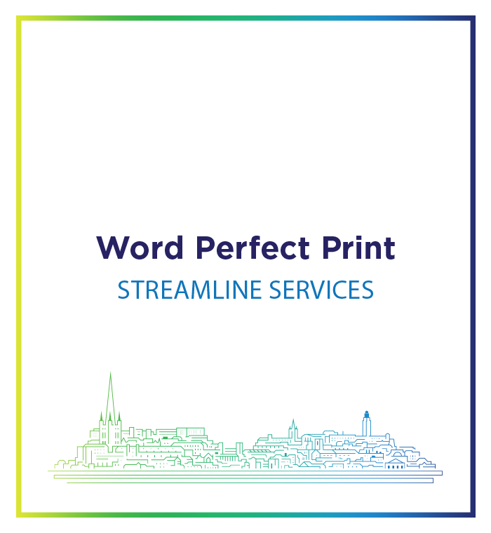 Word Perfect Print Streamline Brochure Range